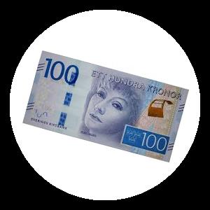 Svenska valutan 100 kr