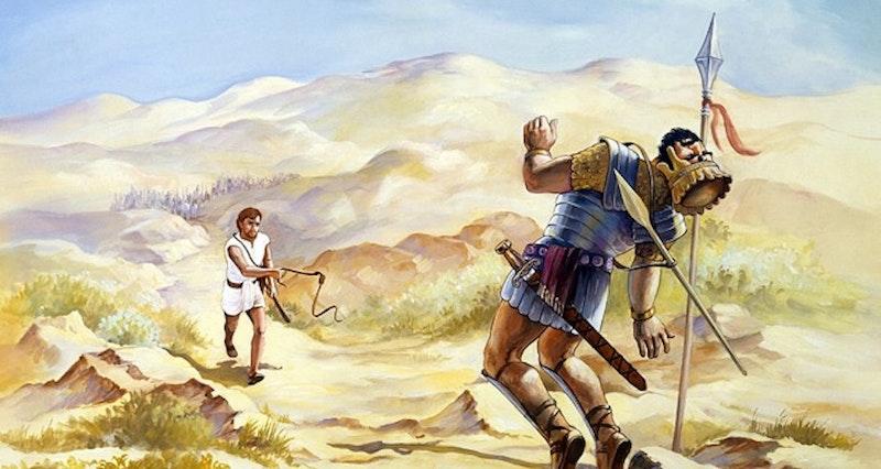 Kampen i bibeln mellan David o Goliat