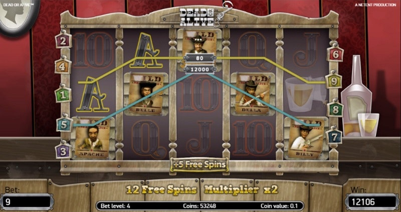 Free Spins i Dead or Alive