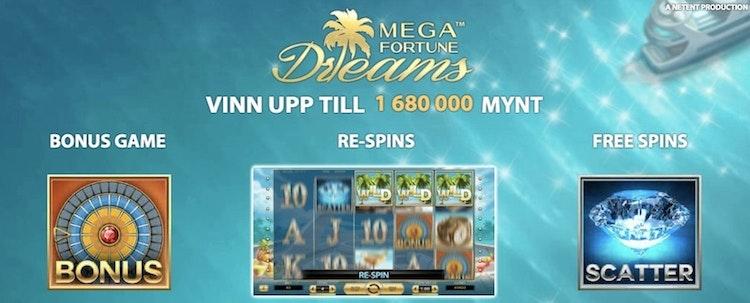Bonusfunktionerna i Mega Fortune Dreams