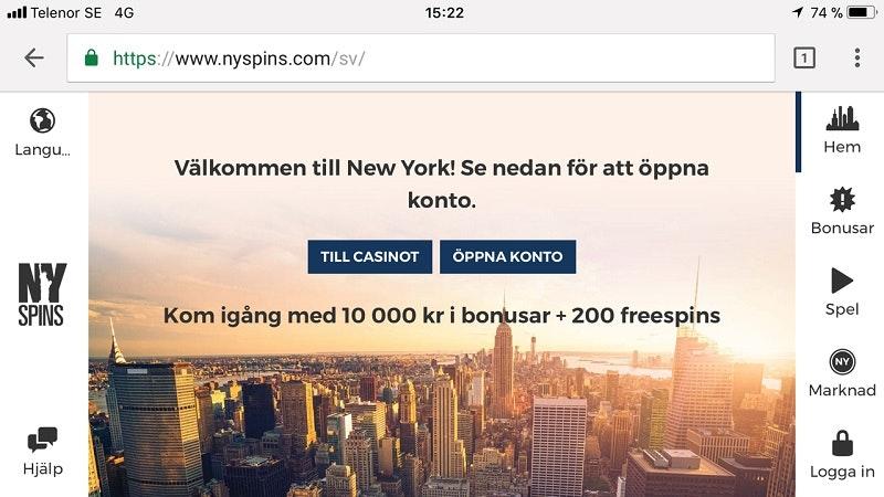 Ett mobilvänligt casino - NYspins