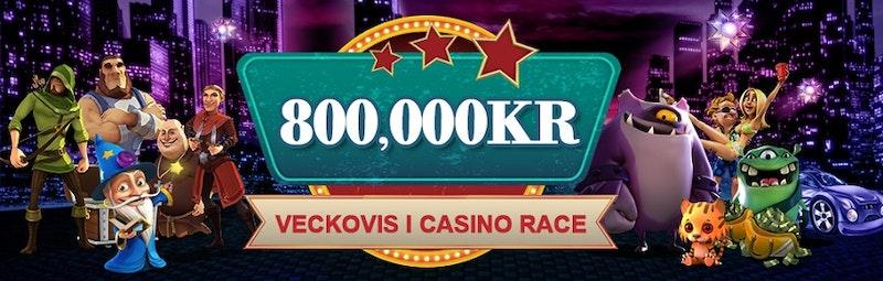Casinoturneringarna heter Casino Races
