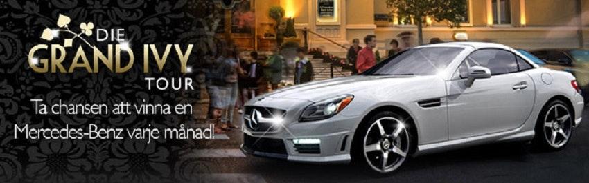 Vinn en Mercedes varje månad hos Grand Ivy