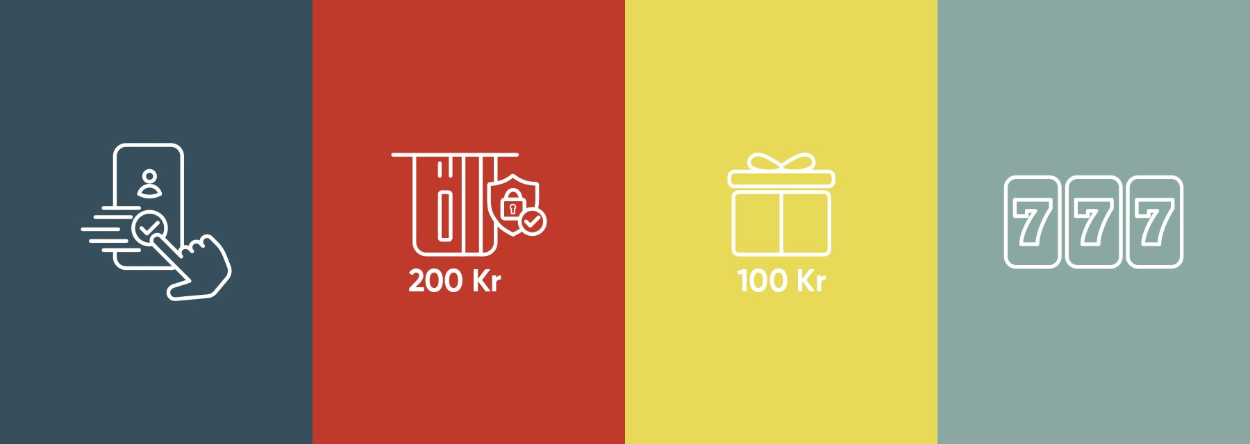 Beskrivning av hur man tar del av en bonus hos ett nätcasino