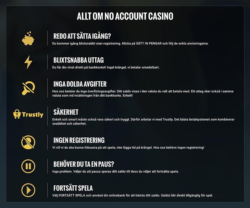 Casino utan registrering - No Account Casino