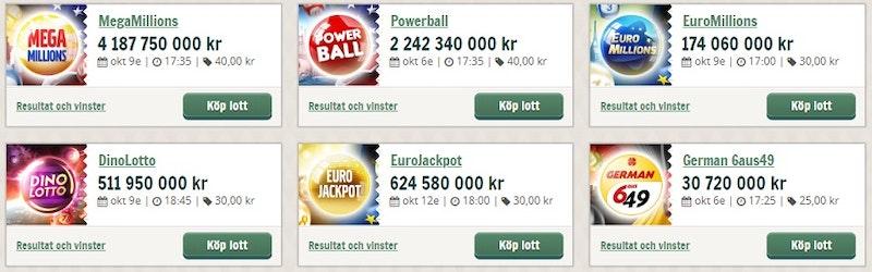 Spela på lotterier från hela världen