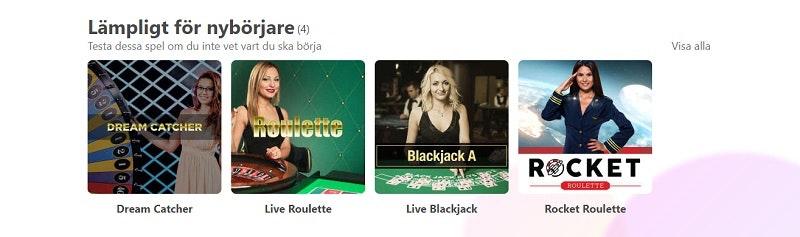 Livecasino hos Dreamz Casino