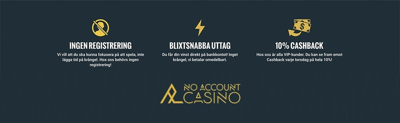 Prova No Account Casino utan registrering