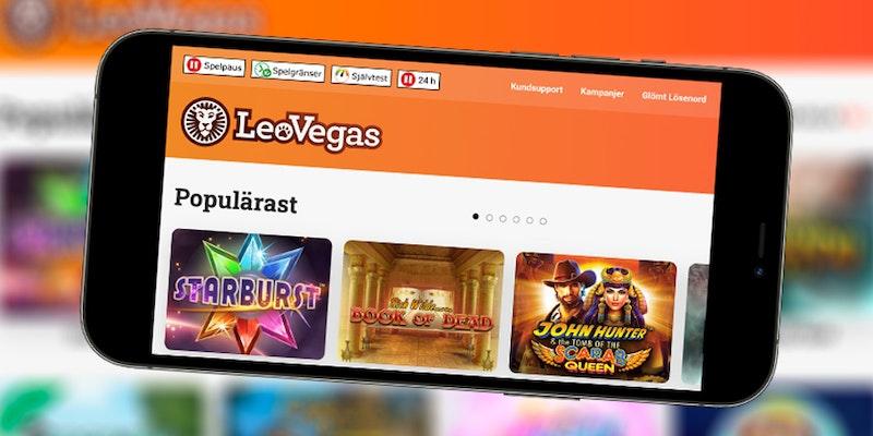 LeoVegas är ett mobilvänligt casino