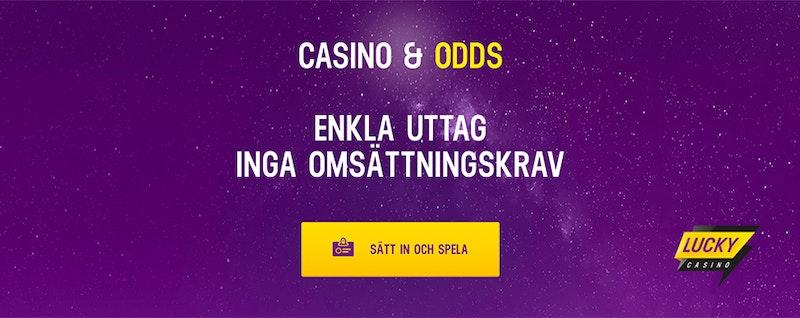 Hos Lucky Casino kommer du igång lätt