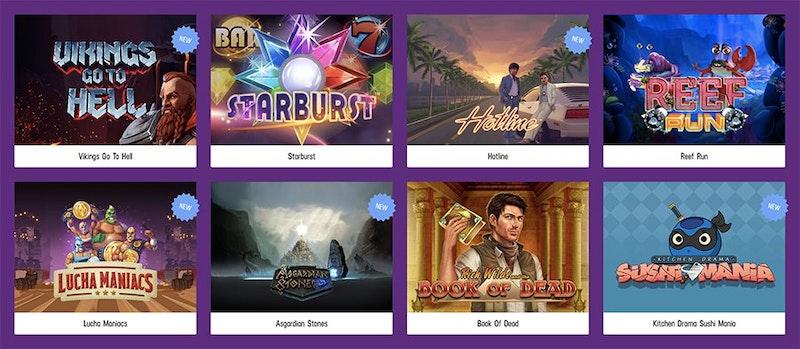 Utbudet av spel hos Lucky Casino