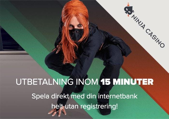 Ninja Casino - Riktigt snabba uttag