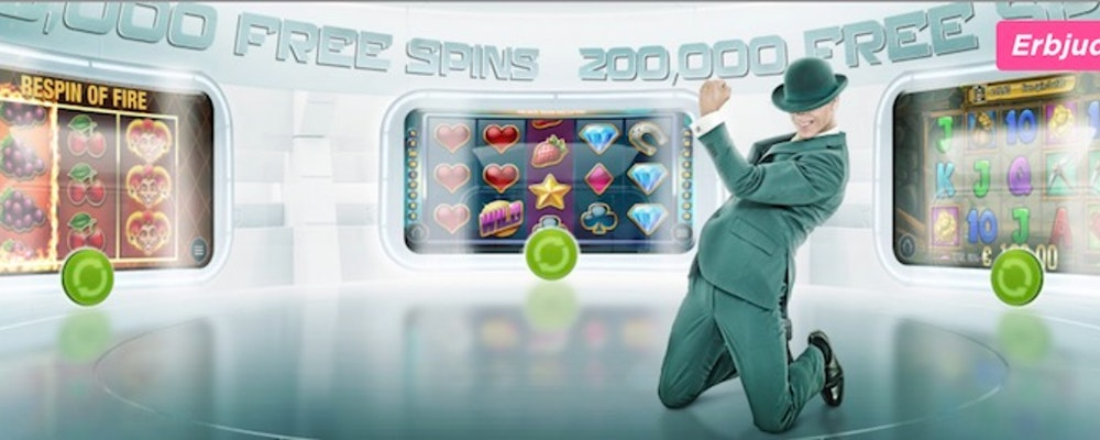 200 000 free spins delas ut i veckans turnering hos Mr Green