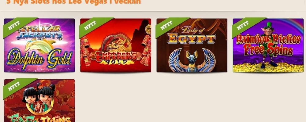 Leo Vegas fick 5 nya slots i veckan. Läs mer om spelen här!
