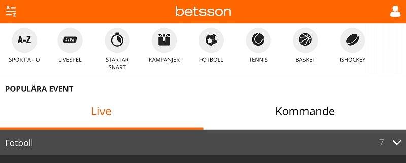 Hurra! Nu finns ny mobil oddsavdelning hos Betsson - Spela här idag