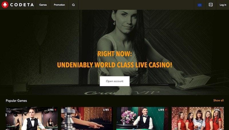 Live Casino-inriktade Codeta får helt ny design