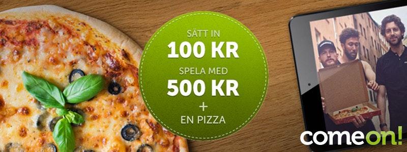 ComeOn bjuder nya spelare på pizza!