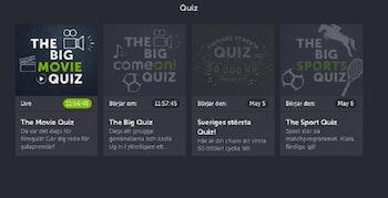 Sveriges största Quiz hos ComeOn