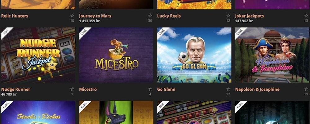 Många exklusiva spel hos detta casinot