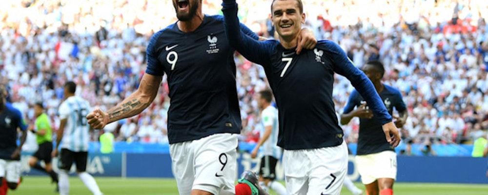 Frankrike möter Belgien ikväll 20.00
