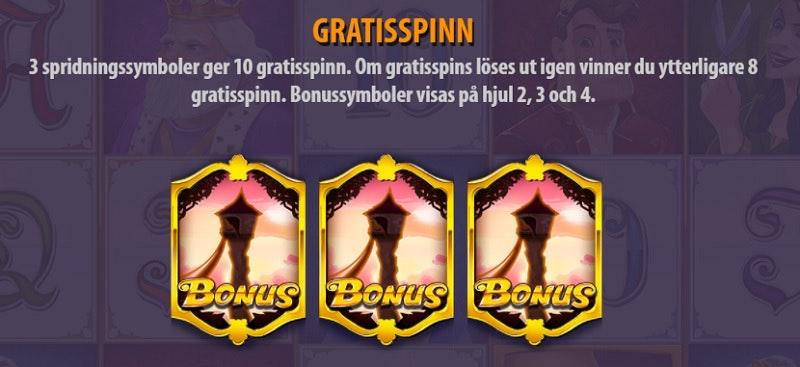 Få Free Spins i spelet