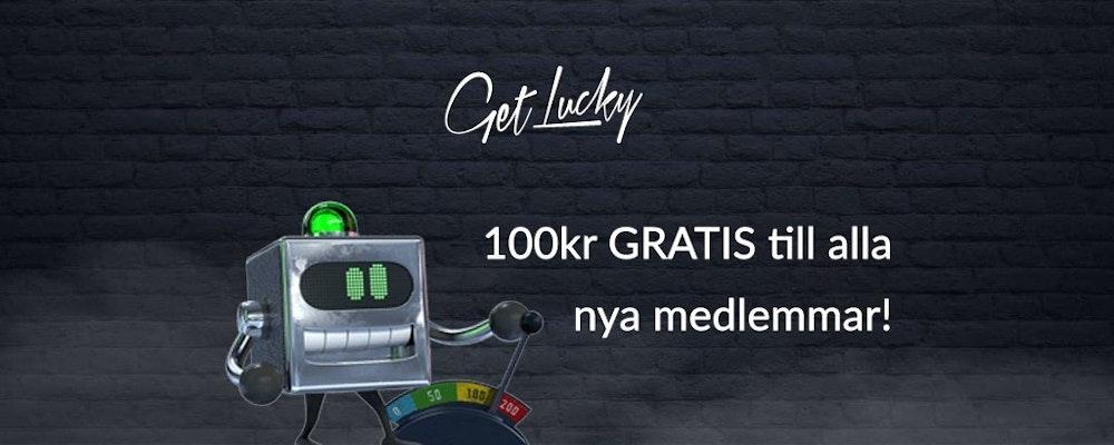 100 kr gratis utan insättning hos Get Lucky!