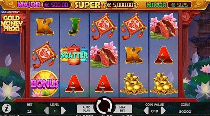 Gold Money Frog från NetEnt