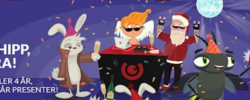 Födelsedagsfesten där även du får presenter & bonusar
