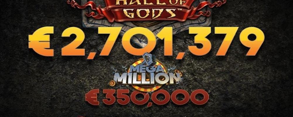 Finsk spelare vann 28 miljoner kronor i Hall of Gods