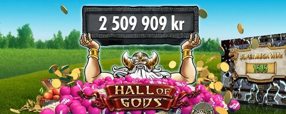 Amanda från Malmö vann 2 509 909 kr på Hall of Gods