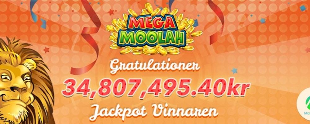 Svenska Niklas vann 34 miljoner på Mega Moolah