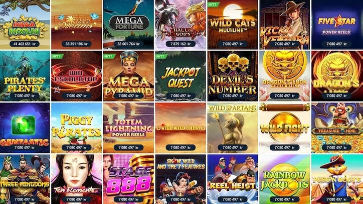 Jackpott-Hub som samlar alla spel med Jackpott
