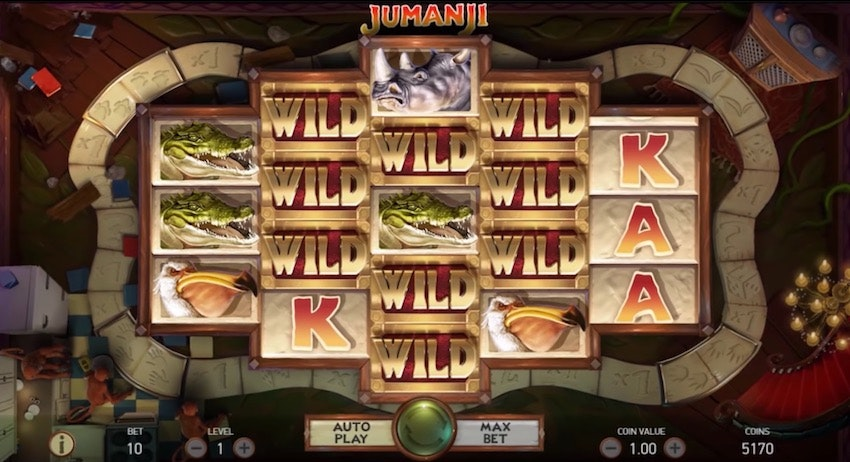 Få många wilds i Jumanji för stora vinster
