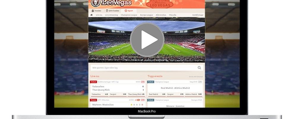 Livestreaming av fotboll & andra sporter - nu hos LeoVegas
