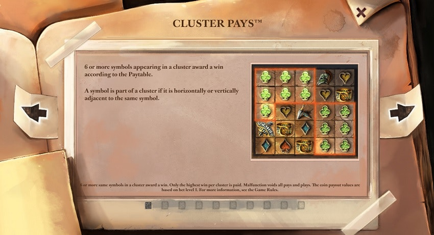 Cluster Pays i Lost Relics