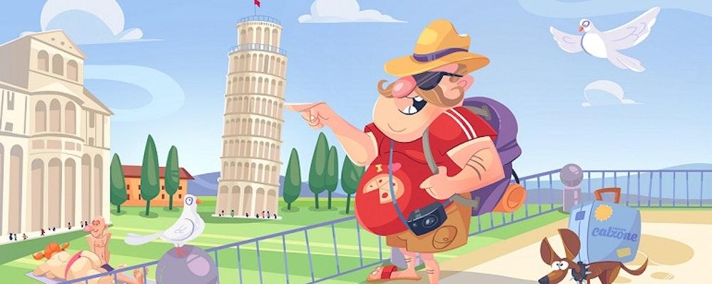 Ta dig till Toppen av Lutande Tornet av Pizza & Vinn Italien-resa