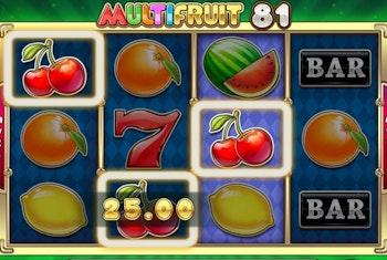 Nu kan du spela Multifruit 81 från Play 'N GO hos Kaboo
