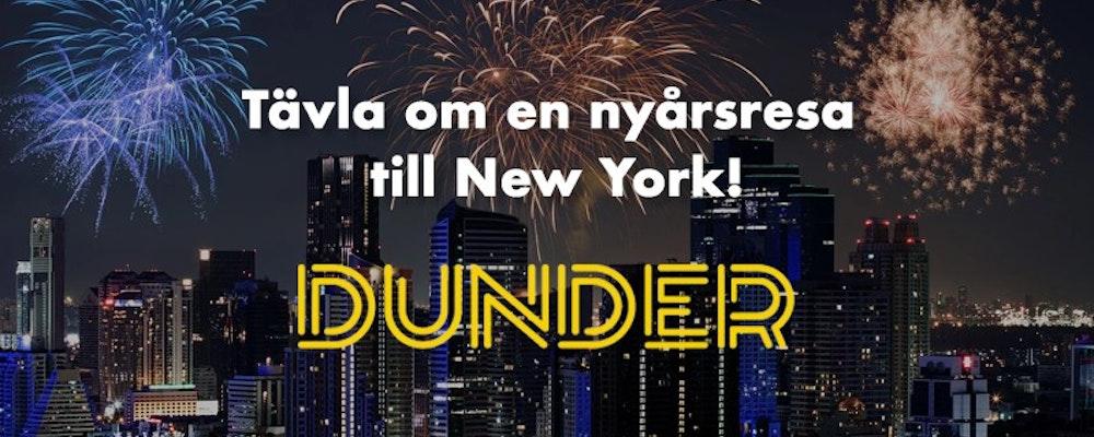 Fira in det nya året i New York med Dunder