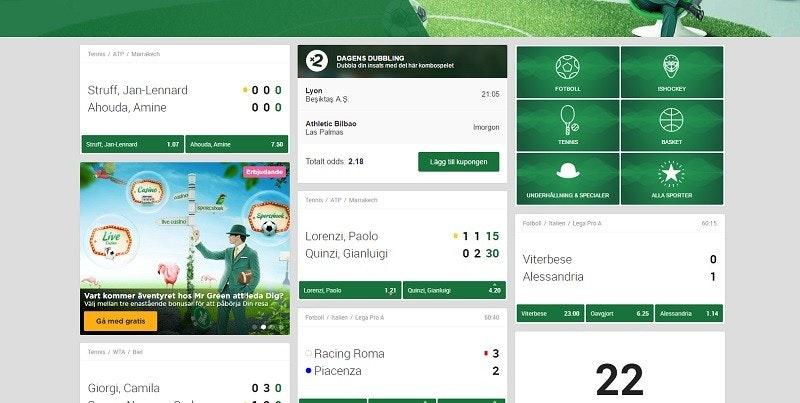 Nu har vi en helt ny oddsavdelning hos CasinoFeber.se
