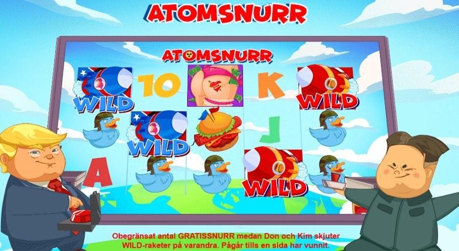 Free Spins heter Atomsnurr i detta spel