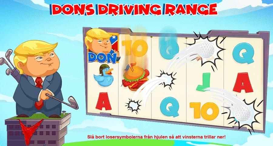 Dons driving range - Donald Trump Golf i Raketgubbarna