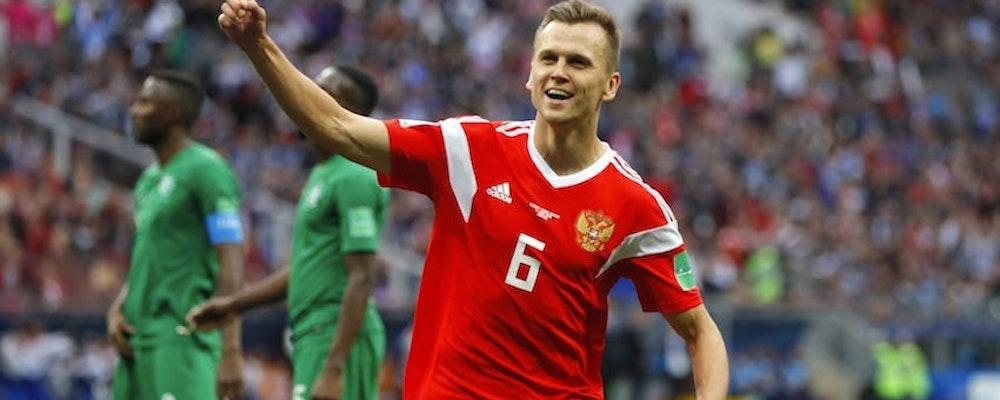 Ryssland krossade Saudiarabien i VM:s första match