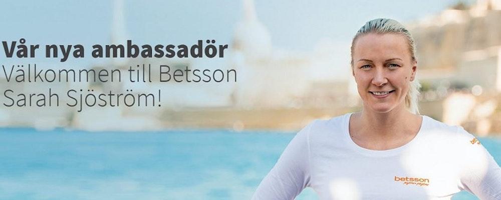 Sarah Sjöström, simstjärnan - Ny ambassadör hos Betsson