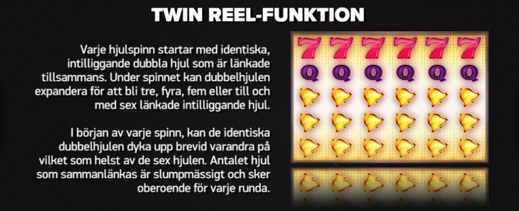 Länkade hjul i Twin Spin Deluxe