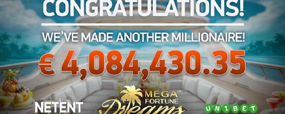 Svensk spelare vann 41 miljoner på Mega Fortune Dreams