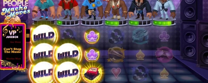 Village People: Macho Moves slot från Microgaming