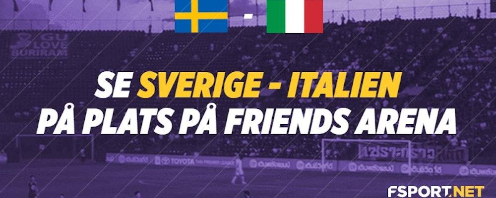 Se Sverige - Italien på plats - Vinn biljetter hos FSport