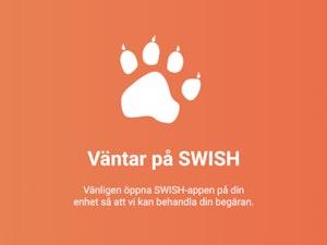 Öppna Swish-appen i din mobiltelefon