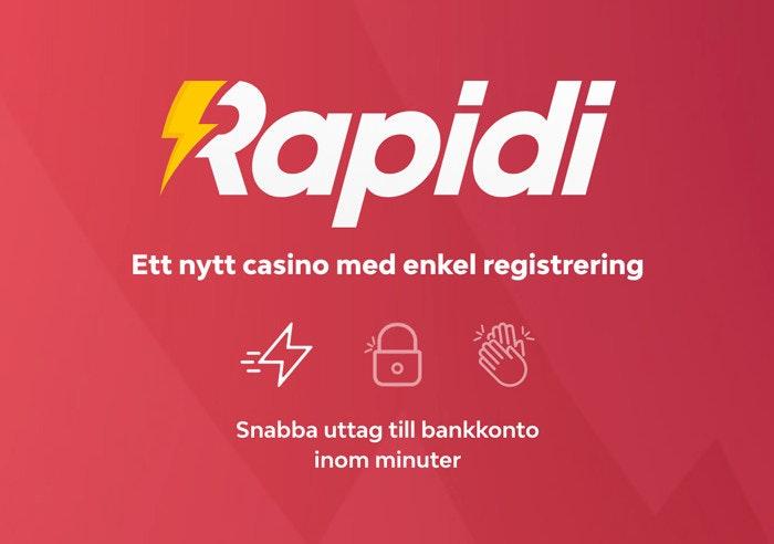 Rapidi Casino - Riktigt snabba uttag