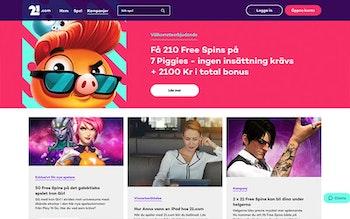 21.com Casino Bonus